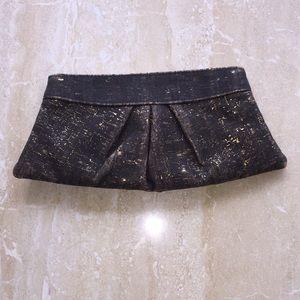 Lauren Merkin Bags - Charcoal and gold clutch